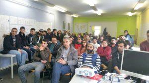 Bild Berufliche Chancen für Flüchtlinge, Präsentation beim Arbeitgeber