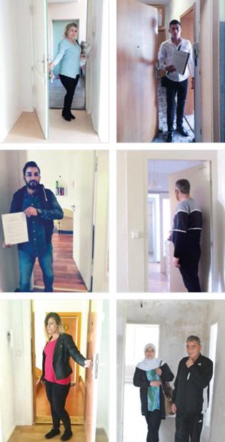Coaching auf arabisch: die ehemaligen Teilnehmer betreten ihre neue Wohnung